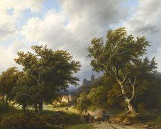 Barend Cornelis Koekkoek 1803 - 1862 GERMAN SUMMER LANDSCAPE