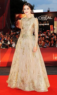 Keira Knightley in a beige Valentino Couture gown, Venice Film Festival 2011