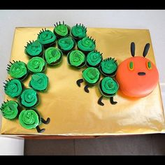 very hungry caterpillar cake idea