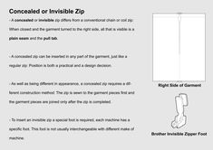 1. Inserting a concealed invisible zip 01