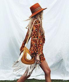 Beautiful boho hippie dress.