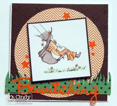 """A Day For Daisies, """"Little Witch Play"""" digi stamp Oct. 2015 New Release"""