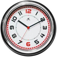 retro diner kitchen clock