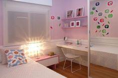 decoração de quarto infantil feminino em tons de rosa