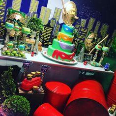 """Linda festa de tartaruga ninja ❤️ por @renatavarandas  #mae_festeira #maefesteiratartaruganinja #nmnt"""