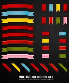Great free ribbon vectors for web design