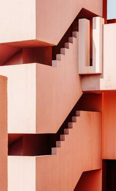 La Muralla Roja - Alicante - Spain architecture model 'visions of architecture' explores the captivating designs of ricardo bofill Architecture Design, Architecture Drawing Plan, Minimal Architecture, Contemporary Architecture, Fashion Architecture, Stairs Architecture, Architecture Portfolio, Hotel W, Ricardo Bofill