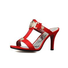 Cool Summer Metal Decoration Sexy Fish mouth High Heels