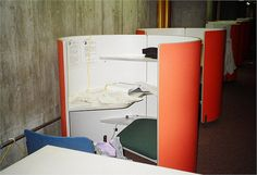 Study carrels Science Library Wellesley College by affullerton, via Flickr Wellesley College, Library Furniture, Library Design, Sound Proofing, Desks, Study, Science, Space, School