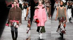 #Fendi FW14 Show from Milan, Camo & military influences with shots of a lovely pink colour