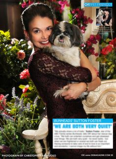 Today in my OK! Pets in OK! magazine star of Bunheads Sutton Foster and her rescue Linus. Check out Bunheads on ABC Family. On Stands now!