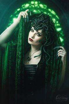 Medusa by la-esmeralda female medusa snakes sorcerer witch warlock sorceress wizard monster cosplay costume LARP LRP armor clothes clothing fashion player character npc   Create your own roleplaying game material w/ RPG Bard: www.rpgbard.com   Writing inspiration for Dungeons and Dragons DND D&D Pathfinder PFRPG Warhammer 40k Star Wars Shadowrun Call of Cthulhu Lord of the Rings LoTR + d20 fantasy science fiction scifi horror design   Not Trusty Sword art: click artwork for source
