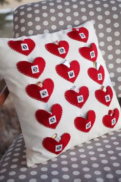 14 Kisses Pillow Kit by sweetwaterscrapbook on Etsy.