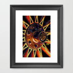 Sunburst  Framed Art Print by F Photography and Digital Art - $35.00