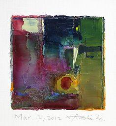 Mar. 12 2012  Original Abstract Oil Painting  by hiroshimatsumoto