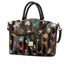 Disney Charms Satchel by Dooney & Bourke | Disney StoreDisney Charms Satchel by Dooney & Bourke - Pack-up your dreams in this delightful satchel by Dooney & Bourke. This fine fashion tote bag features favorite characters and symbols from the Disney Parks depicted as bracelet charms by the accessory label you love.