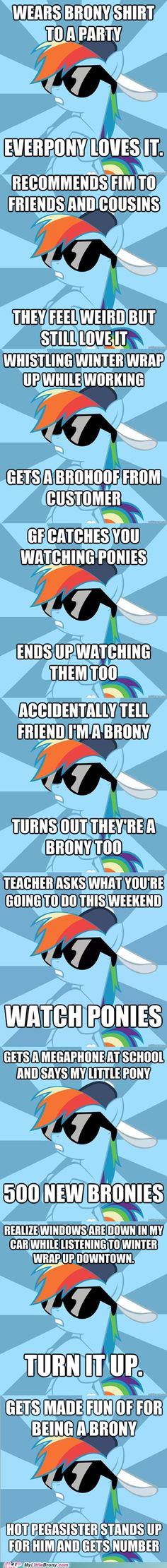 Socially Awesome Brony- Rainbowdash OHMAHGAWD THIS IS AMAZAYN!! haha hot pegasister