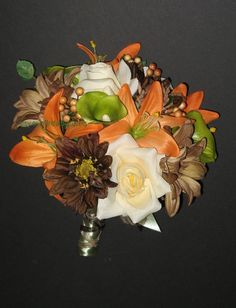 Mossy Oak Wedding Bouquet Set by BridalBouquets on Etsy, $273.00