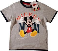 Tricou oficial Disney cu Mickey Mouse, 100% bumbac Mickey Minnie Mouse, Mens Tops, T Shirt, Disney, Fashion, Supreme T Shirt, Moda, Tee Shirt, Fashion Styles