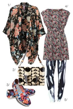 floral explosion featuring patterned leggings by megan auman. I <3 the kimono, too.
