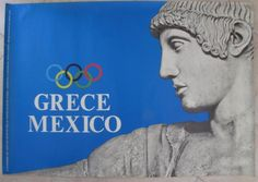 GREECE MEXICO OLYMPICS OLYMPIC GAMES 1968 GREEK ORIGINAL POSTER Mexico Olympics, Ancient Greek Art, Olympic Games, Greece, Movie Posters, Beauty, Greece Country, Film Poster, Beauty Illustration