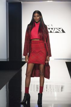 Project Runway season 15 Sally Beauty pop-up challenge: Team Red Violet