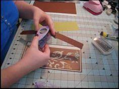 Scrapbook Tutorial - Kathryn's Paper Bag Mini Album, Video 1 of 5 Large Scrapbook, Mini Scrapbook Albums, Diy Scrapbook, Mini Albums, Paper Bag Books, Paper Bag Album, Paper Bags, Family Theme, Mini Album Tutorial