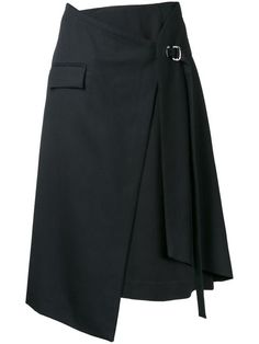 Compre Taro Horiuchi layered wrap skirt.