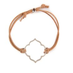 Silver Octagon Cutout on Leather Bracelet - Beaucoup Designs Silhouette Collection features time proven shapes combined with beads, pearls, chains and leather. #festivalstyle #ss2016 #leatherjewelry #jewelry