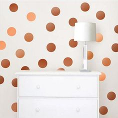 Wall Pops Copper Foil Confetti Dot Wall Decals - Wall Sticker Outlet