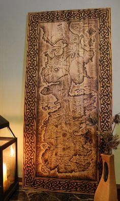 Woodburning Print - Game of Thrones Map - Westeros €44.65 EUR