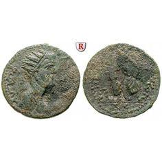 Römische Provinzialprägungen, Kilikien, Eirenopolis, Valerianus I., Oktassarion 253/254 (Jahr 203), ss+: Kilikien, Eirenopolis.… #coins