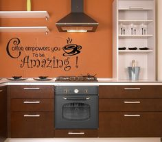 Kitchen Wall Decal Coffee Quote Vinyl Wall Words by MulberryCreek, $19.95