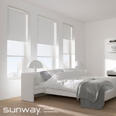 Verduisteringsstoffen van SUNWAY weren licht en warmte. Deze stoffen zijn zeer geschikt voor (kinder) slaapkamers en zorgen voor optimale privacy. Window Dressings, Curtains With Blinds, My Living Room, Windows And Doors, Decoration, Master Bedroom, Sweet Home, Window Treatments, New Homes