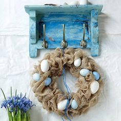 BLOG FLORYSTYCZNY: Wielkanocne dekoracje w kolorze BLUE