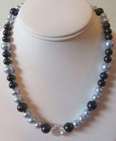 Blue Swarovski Pearls and Swarovski Crystal by ShannonsWhimsies, $39.00