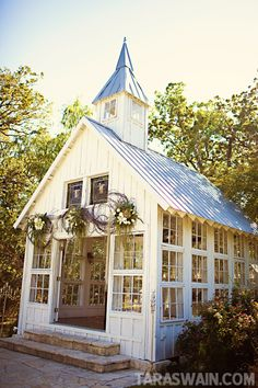 Is it a greenhouse or church. Could be both. What a sweet place for an intimate wedding.