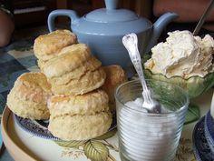 tea scones with clotted cream