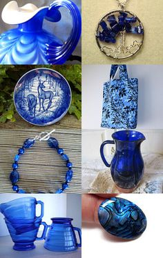 """""""Gorgeous Blues"""" by BonniesSewCrazy --Pinned with TreasuryPin.com"""