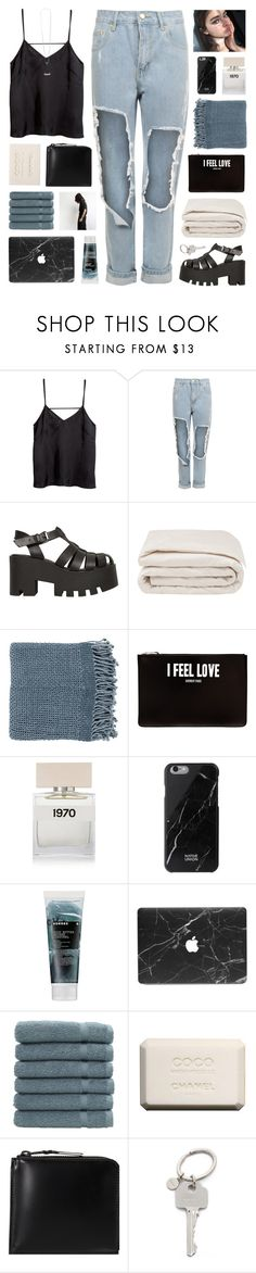 """""""//s a t i n • t o p • r i p p e d • j e a n s//"""" by lion-smile ❤ liked on Polyvore featuring H&M, WearAll, Windsor Smith, Frette, Surya, Givenchy, Bella Freud, Native Union, Korres and Linum Home Textiles"""