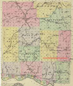 1901 Plat Book of Lyon County Kansas ~ KS History Genealogy Atlas Maps on CD