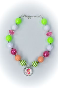 STRAWBERRY SHORTCAKE GIRLS Chunky Lime Pink by CoutureBabyProps
