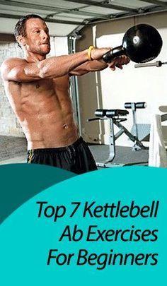 Kettlebell ab exercises #FatBurning