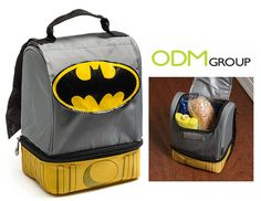 Check out this Batman lunch bag! It can be a really cool promotional item for your company and will attract attention to your brand for sure! Promotional Bags, Batman, Lunch, Backpacks, Totes, Accessories, Eat Lunch, Backpack, Lunches