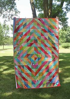 Warm/Cool Quilt | Flickr  I just need to make a LOT OF HST's ...! ! !