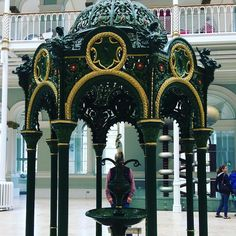 Discovered the designer / manufacturer of this fountain in the National Museum of Scotland is the same as the one who made the one installed in Newport which we walked past on our #fifecoastalpath walk last week.