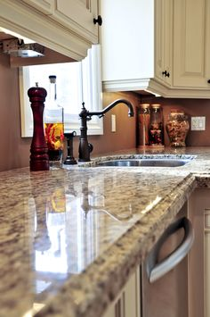 Silestone countertops (an alternative to granite, but looks pretty much the same)