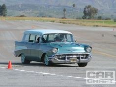 Paul Newman's 1957 Chevy wagon competed in the 2010 #OUSCI