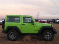 Green 2013 Jeep Wrangler Rubicon