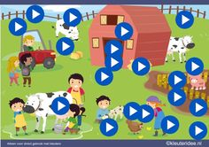 Interactieve praatplaat bij thema boerderij, met veel informatieve filmpjes, spelletjes en liedjes gemaakt door juf Petra van kleuteridee Learning Through Play, Kids Learning, Rules For Kids, Farm Crafts, Farm Theme, Family Matters, Bible Crafts, Language Activities, Preschool Worksheets